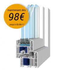 Profil de fenêtre PVC Salamander Brügmann 82 MD avec réduction de prix, maintenant dés 98€