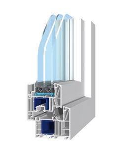 Profil de porte-fenêtre en PVC Salamander Brügmann bluEvolution: 82 MD