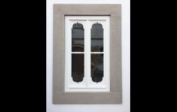 Fenêtre en bois classique blanc