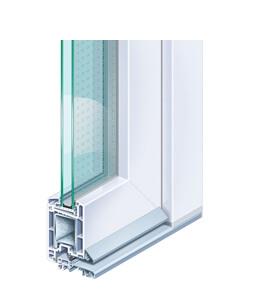 Profil de porte d'entrée en PVC Kömmerling 70 EuroFutur Classic standard
