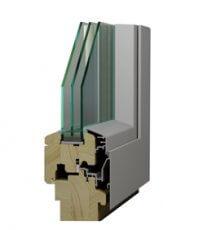Profil de fenêtre en bois-alu MRW 78 pin nordique