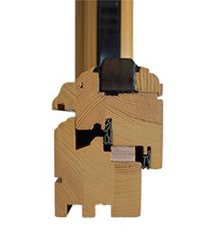 detail de profil traditionnel de fenetre bois