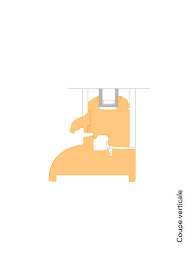 fenêtre bois guele de loup coupe verticale
