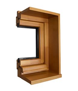 Profil isolation et appui élargie pour fenêtre en bois