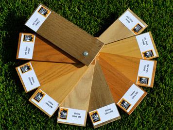 Couleurs disponibles en vernis pour les profile de fenêtres bois de Mestre Raposa